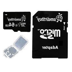 Smartbuy 64GB Micro SDXC Class 10 TF Flash Memory Card SD XC