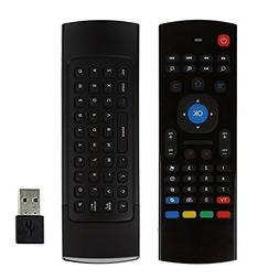 MX3 Air Mouse Remote with Keyboard AMGUR 2.4G Mini Wireless
