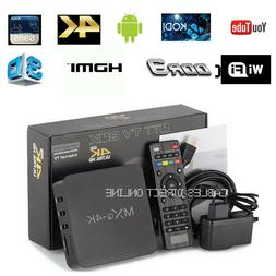 NEW MXQ Pro 4K 3D 64Bit Android 7.1 Quad Core Smart TV Box K