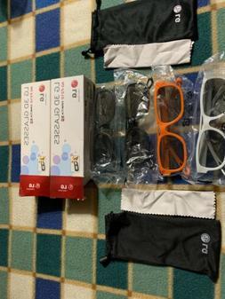 NEW AG-F210 3D Glasses for all LG Passive 3D TV Lot Of 2 4 P