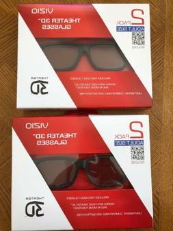 4 NEW VIZIO Theater Passive 3D Glasses, Cinema 3D, Adult Siz