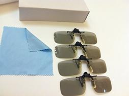 New 4 Pairs PASSIVE 3D GLASS CLIP Pack----Total 4 Pairs Pass