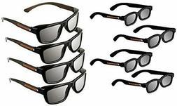 Passive 3D Glasses Deluxe Family Pack For Vizio 3D TVs Genui