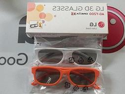 2 Pairs of Passive 3D Glasses w/ Cleaning Cloth - LG brand -