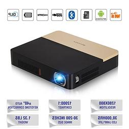 Portable Pico Video Projector 3D Bluetooth WiFi- 350 Ansi Lu