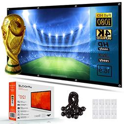 Portable Projector Screen 120 Inch - Home Theater, TV, Movie