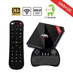 Android 7.1 TV BOX with Wireless Backlit Keyboard, EstgoSZ