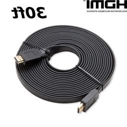 PREMIUM HDMI CABLE 30FT 1.4 1080P For BLURAY 3D TV DVD PS4 X