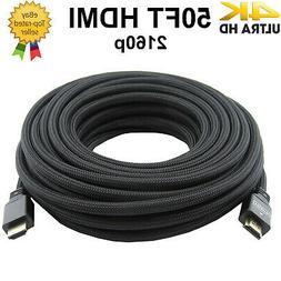 premium hdmi cable 50ft 1 4 1080p
