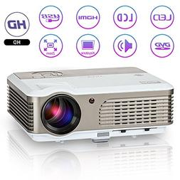 LED LCD Projector HD Portable 2600 Lumens Multimedia Home Vi