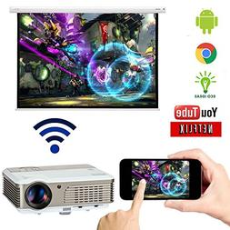 Wifi Wireless LED Projector with Airplay HDMI for Phone Andr