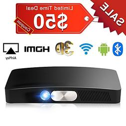 Mini Projector Portable, SeeYing Full HD Home Theater Video