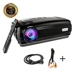HD projector, Sourcingbay BY58 1080P 3200 Luminous Efficienc