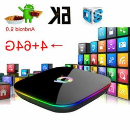 Q Plus 4K Smart TV BOX 4+64G Android 9.0 Quad Core WIFI HD 3