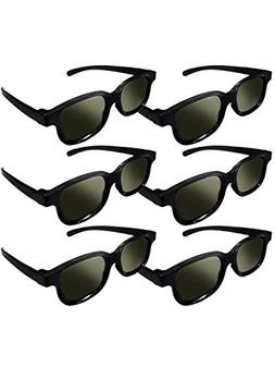 Lot of 6x RealD Technology 3D Polarized Glasses for TV/Movie