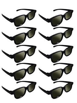 Lot of 10x RealD Technology 3D Polarized Glasses for TV/Movi