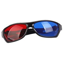 Baosity 1 Pair Red Blue 3D Vision TV Glasses For Dimensional