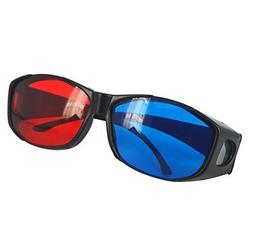 1PCS Retail Plastic 3D Glasses TV Movie Dimensional Anaglyph