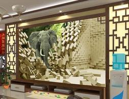 Mznm Free Shopping 2014 New Non-Woven Elephant Stereoscopic