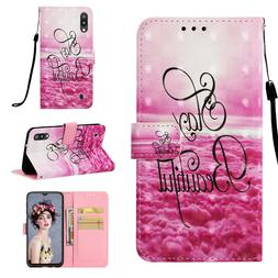 Stay Beautiful 3D Wallet Leather case cover for Samsung M10