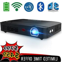 WOWOTO T8E Full HD Mini Portable Projector WiFi&Bluetooth Ho