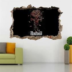 The Punisher TV Series 3D Smashed Wall Sticker Decal Decor A