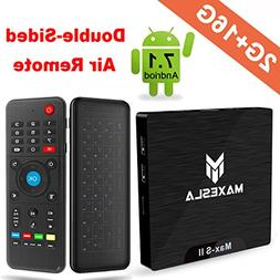 Maxesla TV Box Android 7.1 Newest MAX-S II Smart TV Box with