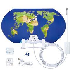 TV Antenna,ANTOP 3D Pattern Design Amplified HD TV Antenna I