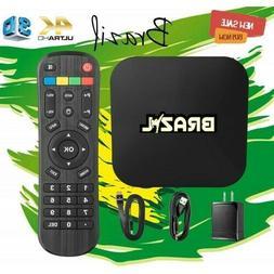 TV BOX 4k ultra hd 3D 200+ Brazilian Channels + 1000s + worl