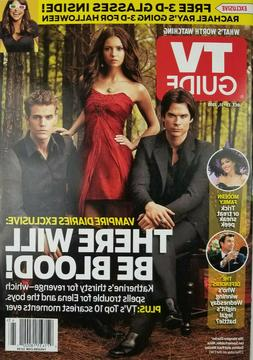 TV Guide Magazine Oct 2010 Vampire Diaries Nina Dobrev Paul