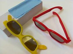 Two Pairs Kids 3D Glass For VIZIO LG Viewsonic Passive 3D TV