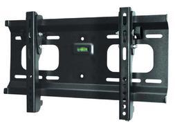 Ultra-Slim Black Adjustable Tilt/Tilting Wall Mount Bracket