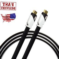 Ultra Clarity HDMI Cable Flat High Speed 3D 4K TV HDTV HD 10