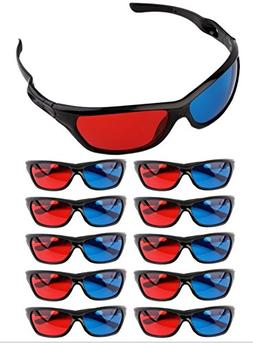 Frame Amo Universal Anaglyph 3D TV Glass, Red and Blue Lens,