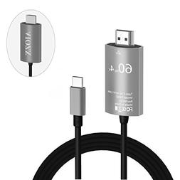 AIOZX USB C to HDMI Cable , 6.6 ft Type C to HDTV Adapter Su
