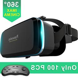 Pansonite Virtual Reality VR Headset 3D Glasses With Remote