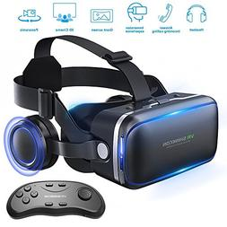 Betolye Vr Headset with Remote Controller, 3d Glasses Virtua