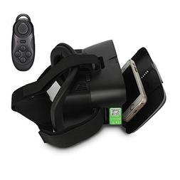VR Headset with Bluetooth Remote Controller,3D Virtual Reali