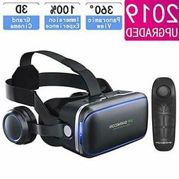 VR Headset for iPhone & Android Phone,3D VR Glasses for